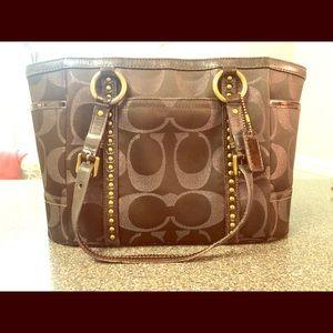 Metallic brown Coach purse